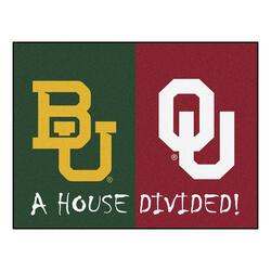"""Fanmats NCAA House Divided Mat  34"""" x 45"""""""
