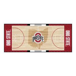 """Fanmats NCAA Basketball Court Runner Mat 30"""" x 72"""""""
