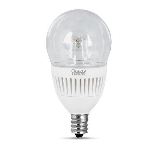 Led Light Bulb Candelabra Base: Feit LED Dimmable A15 Shape Clear Candelabra Base Light