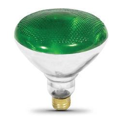 100 Watt BR38 Green Indoor or Outdoor Reflector Light Bulb