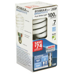23 Watt Bright White CFL Mini Twist Light Bulb