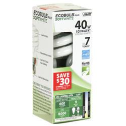 9 Watt CFL Ecobulb Plus Mini Twist Light Bulb