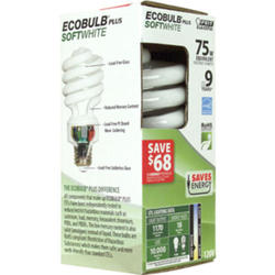 18 Watt CFL Ecobulb Plus Mini Twist Light Bulb