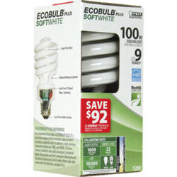 23 Watt CFL Ecobulb Plus Mini Twist Light Bulb