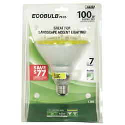 20 Watt Yellow CFL PAR38 Reflector Light Bulb