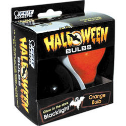 Halloween Orange and Black Light Bulb (2-Pack)