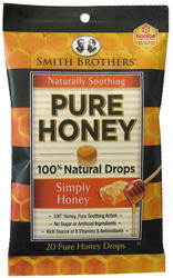 Smith Brothers Naturally Soothing Pure Honey Drops - 20-ct