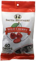 Smith Brothers Wild Cherry Soothing Throat Drops - 40-ct