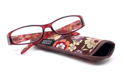 Foster Grant Ashley Brown Reading Glasses for Women with Case