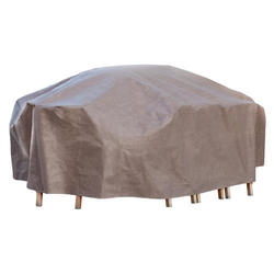 """Duck Covers Elite 96""""L Rectangle Patio Table and Chairs Cover including Inflatable Airbag"""