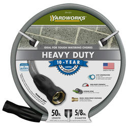 "Yardworks® 5/8"" x 50' Heavy-Duty Garden Hose"