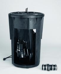 1/2 HP 115V Pre-Plumbed Sewage Basin & Pump