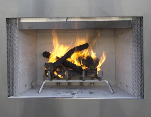 42 Stainless Steel Wood Burning Outdoor Fireplace Insert Only At Mena