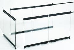 """IHP 36"""" Multi-View Glass Doors for B-Vent Peninsula Fireplaces"""