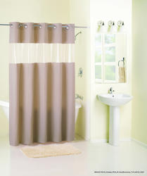 Vision Brownstone Peva Shower Curtain
