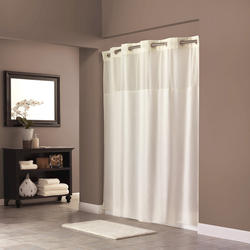 Beige Mystery Polyester Shower Curtain