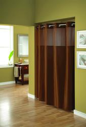 Brown Mystery Polyester Shower Curtain