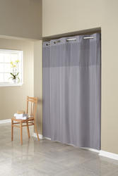 Frost Grey Mystery Polyester Shower Curtain with Liner