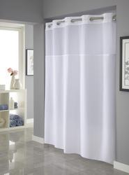 White Plainweave Shower Curtain