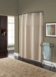 Taupe Diamond Pique Mystery Polyester Shower Curtain with Liner