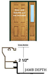 """BayGuard 4' 2"""" x 6' 8"""" x 4-9/16"""" Aluminum Retro-Fit Single Entry Door Frame with 12"""" Sidelite Frame"""