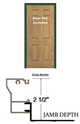"BayGuard 3' x 6' 8"" x 6-9/16"" Aluminum Retro-Fit Single Entry Door Frame"