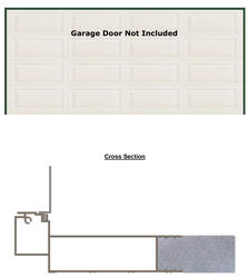 "BayGuard 16' x 7' x 5-1/2"" Prefinished Aluminum Garage Door Frame"