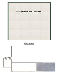 "BayGuard 8' x 8' x 5-1/2"" Prefinished Aluminum Garage Door Frame"