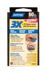 "Norton 3X 4-1/2"" x 2-3/4"" 60-Grit Small Area Sanding Sponge"