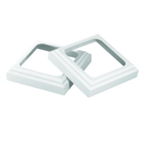 Quickrail 5 white trim kit for 5 x 5 x 8 39 8 quickpost for Fypon pvc trim