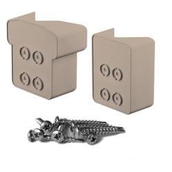 Fypon QuickRail Tan 45 Degree Corner Post Bracket Kit