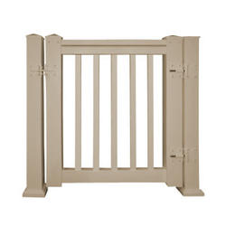 "Fypon QuickRail 36"" Tan Square Spindles Gate Kit"