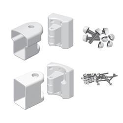 Fypon QuickRail White Multiangle Bracket Kit