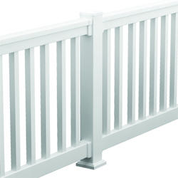 "Fypon QuickRail 36"" x 96"" White Deluxe Rail Kit with Square Spindles"