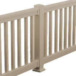 """Fypon QuickRail 42"""" x 96"""" Tan Square Deluxe Rail Kit"""