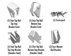 Fypon QuickRail White Stair Bracket Kit
