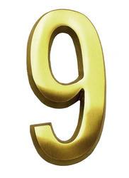 "Number ""9"" for Address Plaque - Brass"
