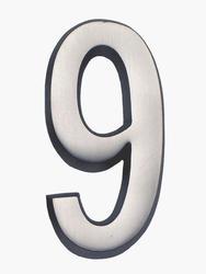 "Number ""9"" for Address Plaque - Nickel"