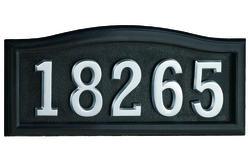 SoftCurve Address Plaque-Black