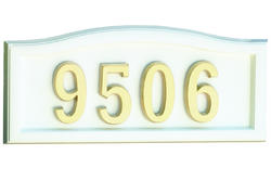 SoftCurve Address Plaque-WHI