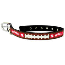 GameWear Nebraska Cornhuskers Classic Leather Football Collar