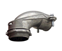 """1-1/4"""" Zinc Angle Squeeze Connector"""