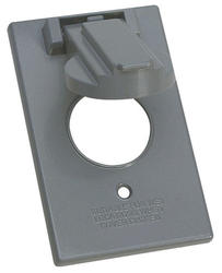 1 Gang Vertical Round Switch Cover - Gray
