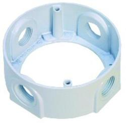 "1/2"" 4 Hole Round Extension Ring - White"