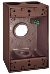 "3/4"" 4 Hole 1 Gang Box - Bronze"