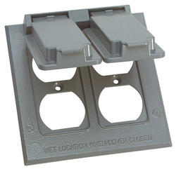 2 Gang Duplex Cover - Gray