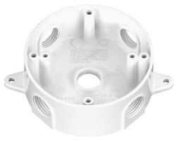 "3/4"" 5 Hole Round Box - White"