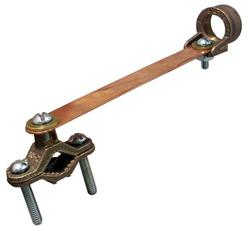 """Ground Clamp with Strap and 3/4"""" Hub"""