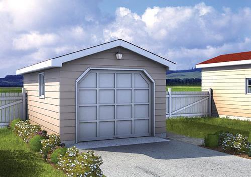 One Car Gable Garage Building Plans Only At Menards