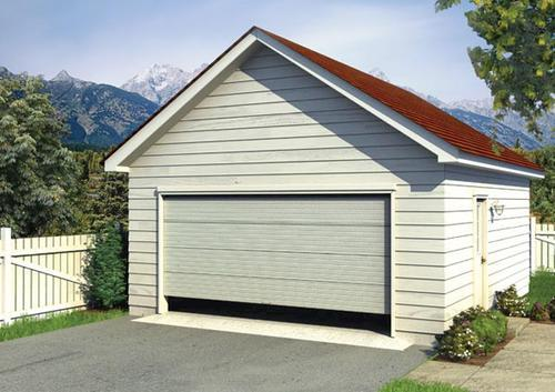 Two car gable garage building plans only at menards for Gable garage